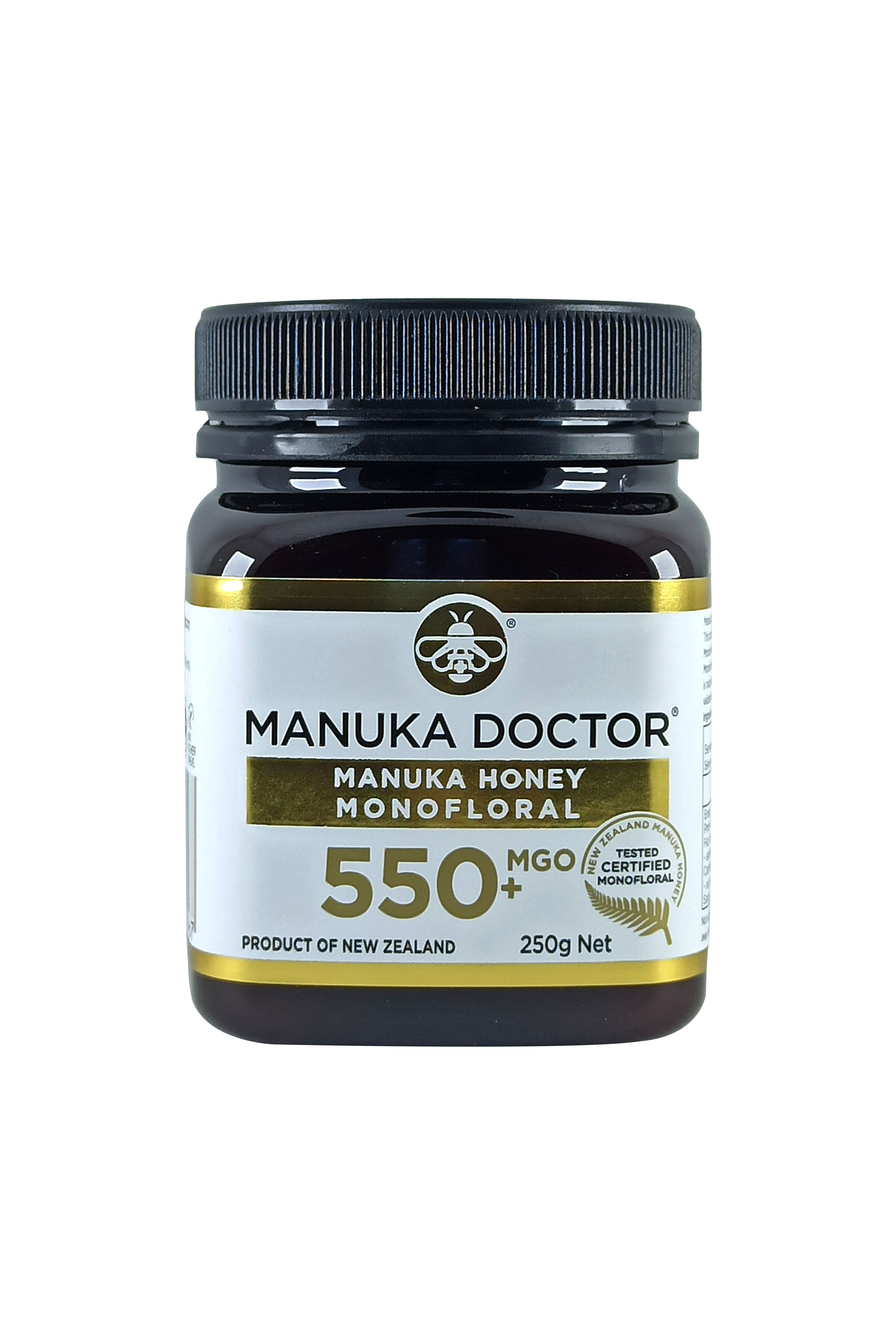 Manuka Doctor MGO 550+ Manuka Honey Monofloral 250gr