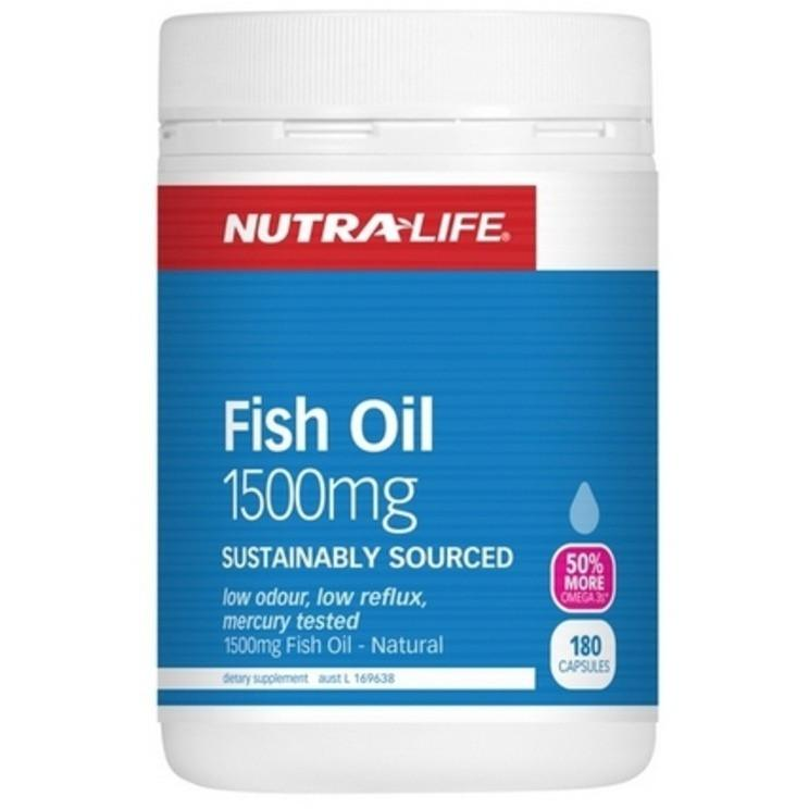 Nutra Life Fish Oil 1500 180caps