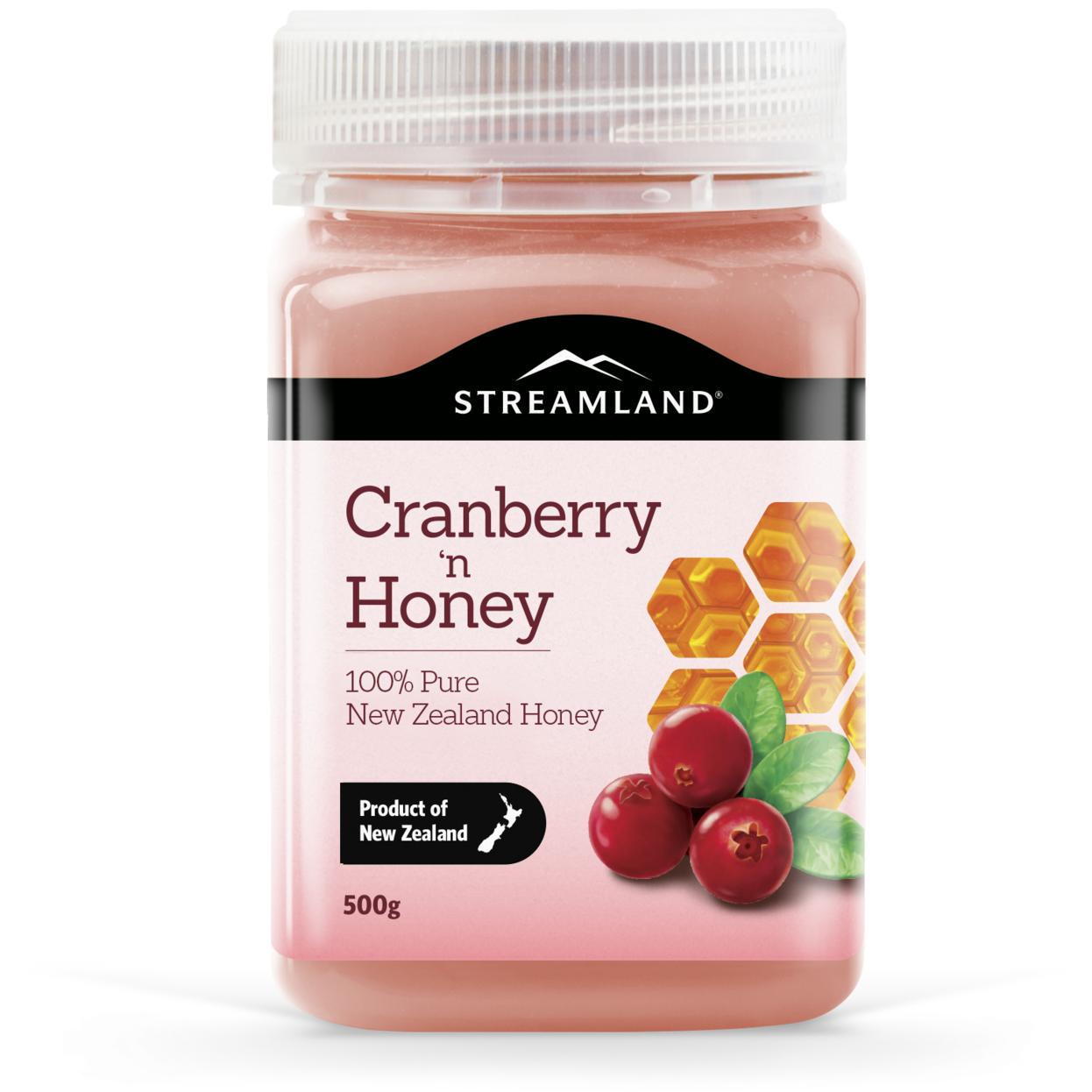 Streamland Cranberry Honey 500g