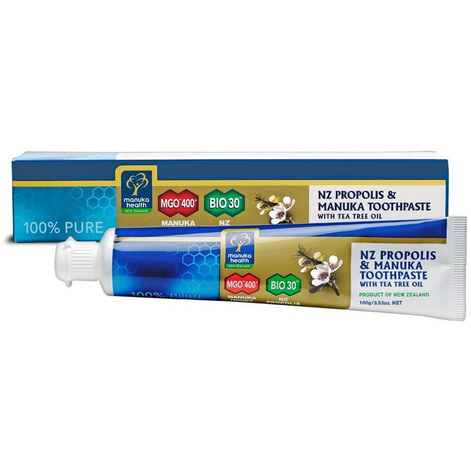 Manuka Health Propolis & MGO 400+ Manuka Toothpaste With Tea Tree Oil 100g